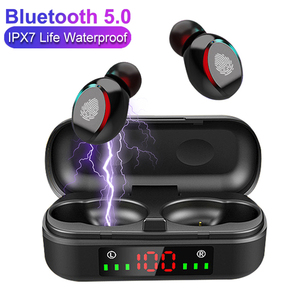 Image 1 - TWS Wireless Earphones Bluetooth V5.0 Sport Fashion Portable Headphones Gaming LED Power Display Headsets for IOS Android