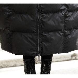 Image 5 - XITAO 2019 冬韓国ファッション新しい女性のフルスリーブカジュアルスタンド襟ソリッドカラーのパッチワークプルオーバー厚手パーカー LJT4362