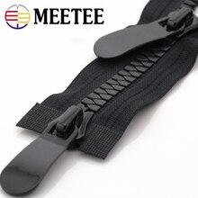 Meetee 8#15# пластиковые застежки-молнии открытый конец 70-150 см длинная застежка-молния пуховик пальто двойные ползунки для шитья одежды ремонт портной аксессуар