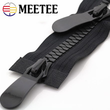 Meetee 8#15# Resin Zippers Open End 70-150cm Long Zip Down Jacket Coat Double Sliders for Sewing Garment Repair Tailor Accessory(China)