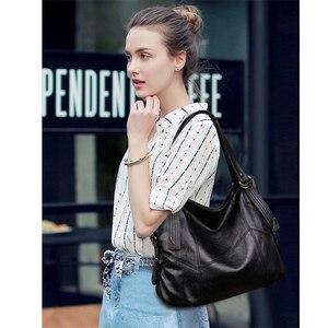 Image 3 - Sacos de Mão das senhoras Saco Bolsa 2019 Estilo Vintage Mulheres Bolsas de Couro bolsas de luxo mulheres sacos Designer de Grande Capacidade Sacola