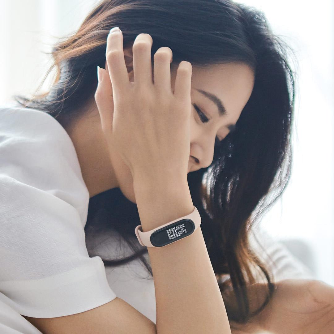Applicable Millet Bracelet 4nfc Version Smart Sports Watch Wrist Strap 4 S Heart Rate Pedometer Origional Product Smart Wristbands     - title=