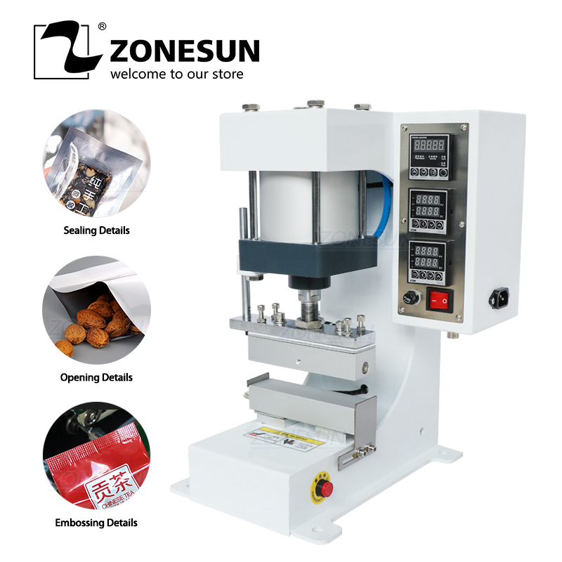 ZONESUN ZSP 890 G Pneumatic Stamping Machine Leather LOGO Printer Pressure Words Machine Shoelace Flattening Machine|machine machine|machine stamping|machine printer - title=