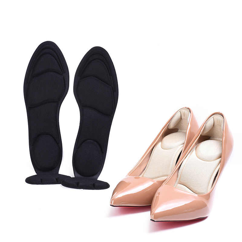 1Pair 2 in 1 7D Insole Pads Inserts Heel Post Back Foot Care Tool Breathable Anti-slip for High Heel Shoe Plantillas Para Los