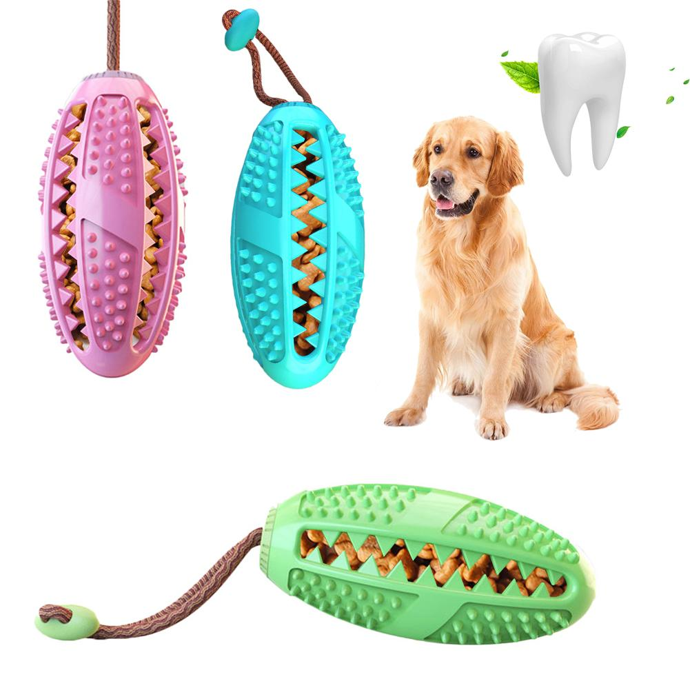 Mixed Bite Resistant Dog Toothbrush Teether Chew Toy Food Leak Bite resistant Toy Dog Teeth Cleaneing