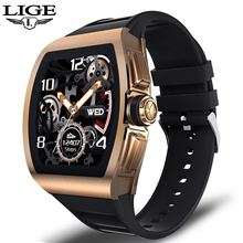 LIGE New Luxury Men Smart Watch Women IP68 Waterproof Fitnes