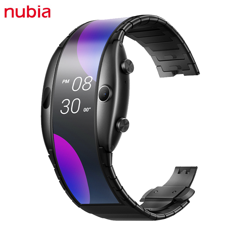 Permalink to Original Nubia Alpha Smart Watches 4.01 inch OLED Screen Nubia Alpha Watch Cell Phone 500mAh 1GB RAM 8GB ROM Snapdragon 8909W