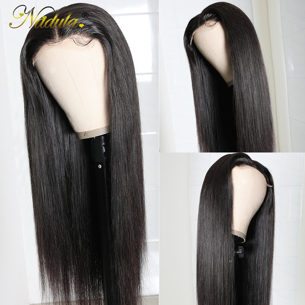 Nadula Hair 5x5 HD Lace Front  Wigs for Black Women Straight Hair HD Lace Frontal Wig brazilian Hair Full Wig 28inch 4