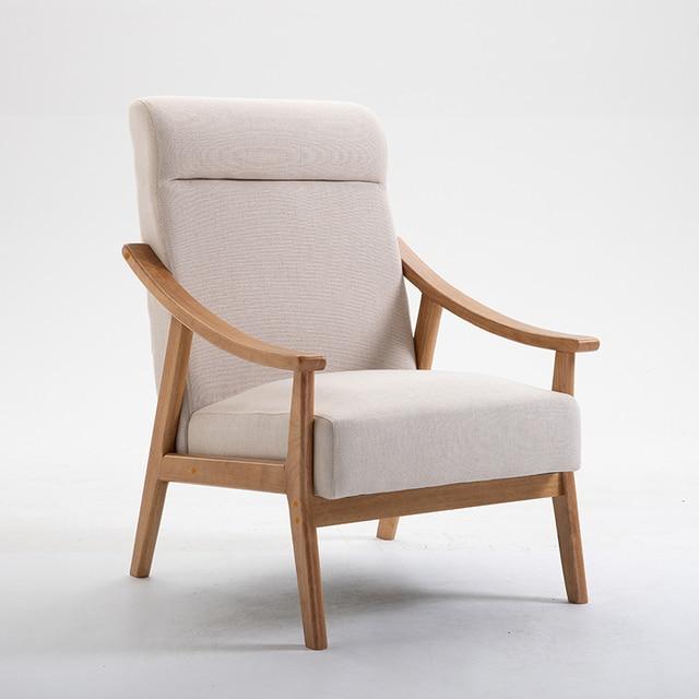 Solid Wood Sofa Armchair  6
