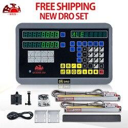 Conjunto de leitura digital/kit 2axis dro hxx gcs900-2/para fresadora e codificador de escala linear ttl 2 pces/sensor/transdutor gcs898
