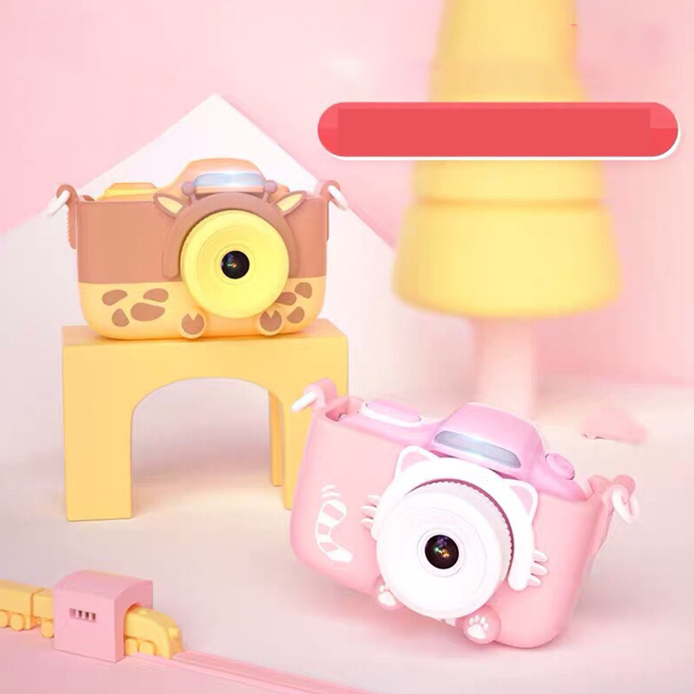 Caméra numérique enfants caméscope Mini vidéo avec coque en silicone cadeaux voyage Anti secousse haute définition jouets portables Selfie - 6