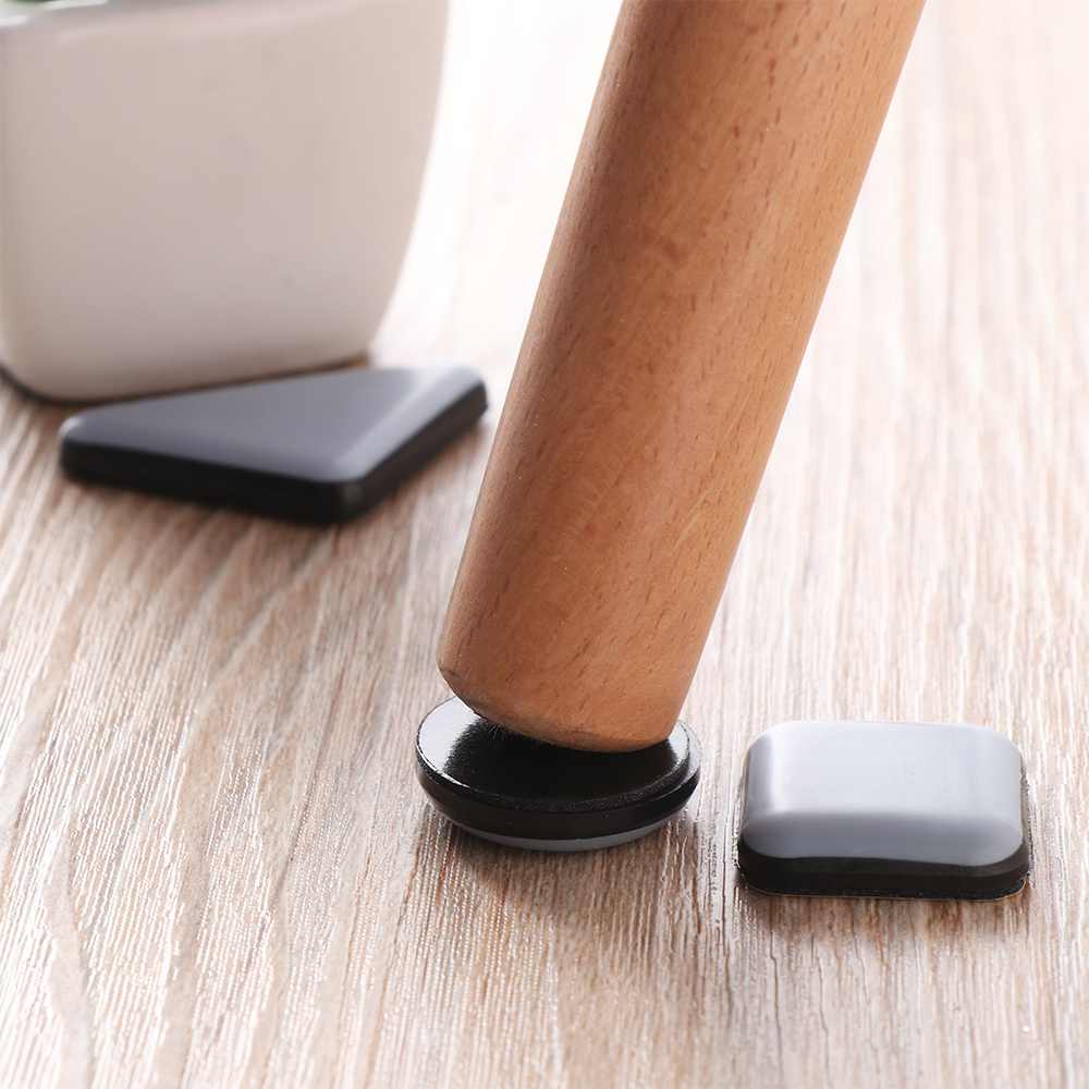 4piece/pack Slider Pad Furniture Table Bases Protector Coaster Carpet Ground Magic Moving Anti-abrasion Floor Mat  Easy Move