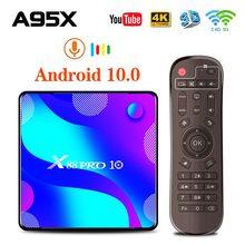 صندوق التلفزيون أندرويد 10.0 صندوق التلفزيون X88 برو 10 Rockchip RK3318 4GB 32GB 64GB 128GB 4K حامل صندوق التلفزيون لاعب مخزن مجموعة صندوق
