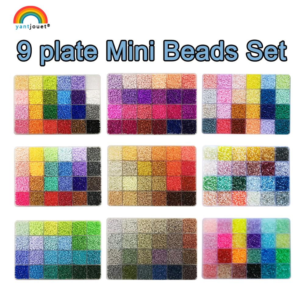 Yantjouet  24colours/box 2.6mm Mini Hama Beads Set 13200pcs For Children DIY  With Tools Iron Beads High Quality Gift