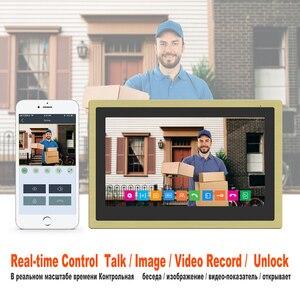 Image 3 - دياغونسفيو واي فاي فيديو إنترفون IP هاتف فيديو لاسلكي للباب نظام الحماية المنزلي 10 بوصة تعمل باللمس 1080P باب الاتصال الداخلي