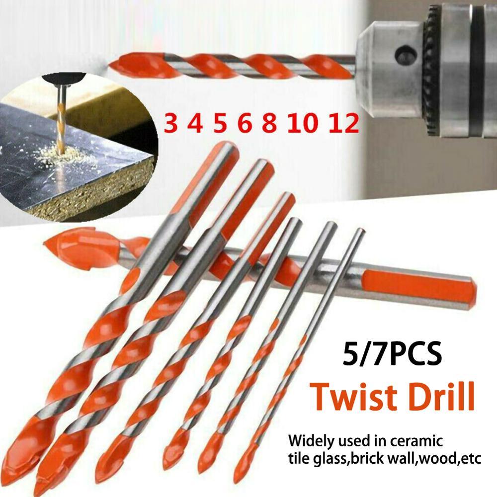 5/7 Pcs Drill Bits Multifunctional Ceramic Wall Drill Bit Set Anti skid Shank Alloy Hole Opener Tile Glass Brick Wall Wood|Drill Bits| - AliExpress