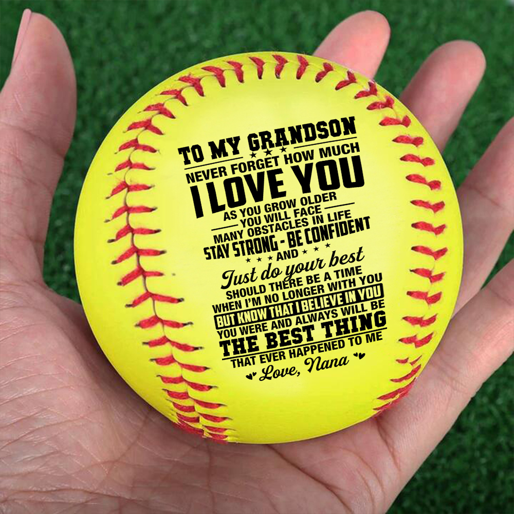 Grandma To My Grandson I Will Never Outgrow A Place In Your Heart – softball Birthday Graduation Christmas Gift