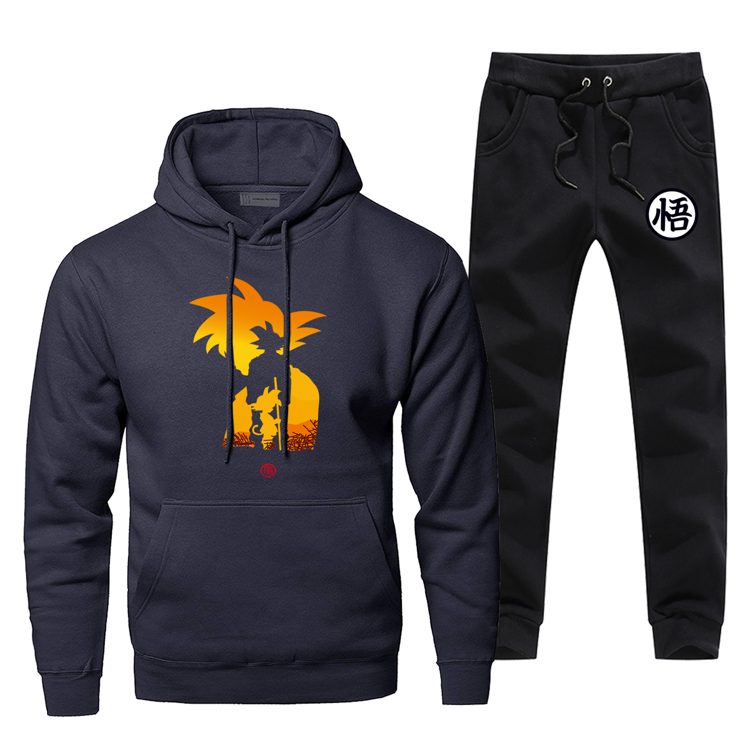 Japanese Anime Dragon Ball Hoodie Men Casual Sweatshirt Pants Sets Dragonball Z Harajuku Streetwear Fashion Fleece Sportswear