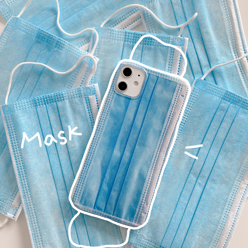 The new For iphone 11 X XS 6 7 8plus Couple models Creative mask phone case for iphone11 pro max mobile phone shell four corners