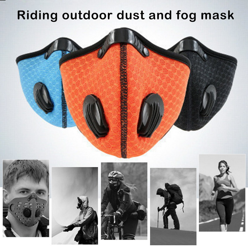 Filter Activated Carbon  2.5 Anti-Pollution Running With Cycling Mask KN95 Antiviral Coronavirus Sport Face Mask 29