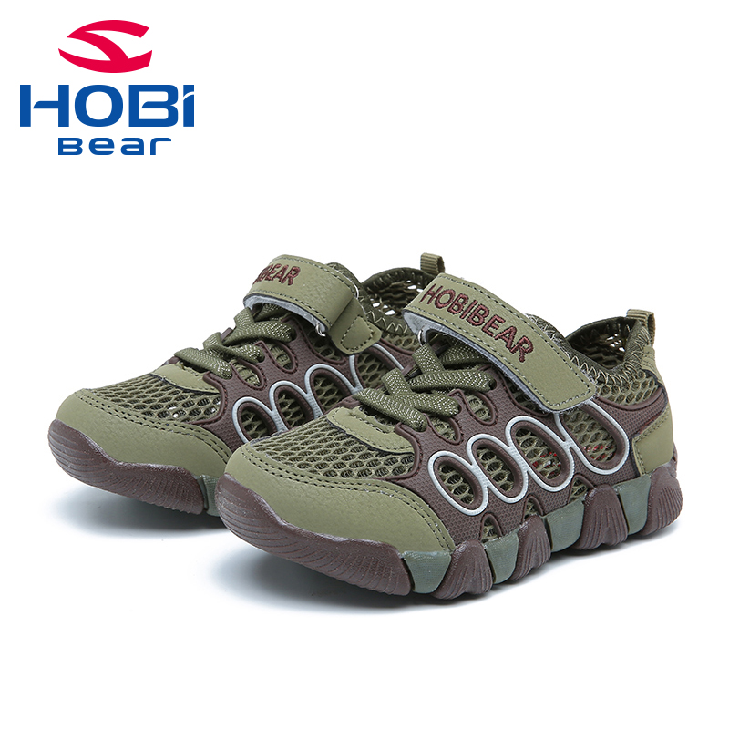 HOBIBEAR Outdoor Warking Shoes Boy Girl  Hiking Sport Sneaker Breathable Casual Running Shoe AU3801