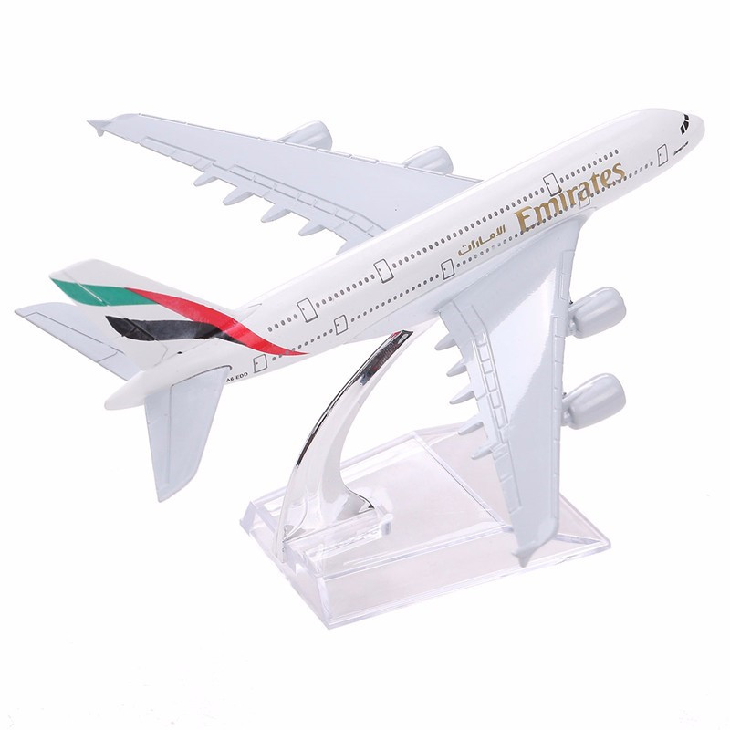 Airlines Airplane Model Airbus 380 Airways 16cm Alloy Metal Plane Model W Stand Aircraft M6-039 Model Plane