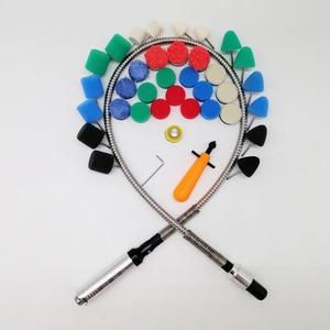 Image 5 - Outil rotatif adapté pour meuleuse, graveur, perceuse, polisseuse, 106CM, arbre Flexible, pour voiture, M14