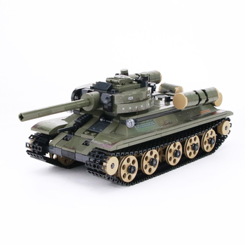 цена на WW2 Military Soviet T-34 tank Building Blocks Russia Military WW2 Tank army Soldier Figures Weapon gun Bricks Toys For children