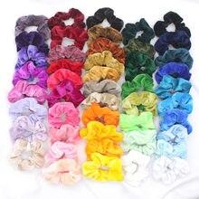 10 шт., разноцветные бархатные резинки для волос, кольцо, однотонный бархат, держатель для хвоста, резинки для волос, эластичные резинки для в...