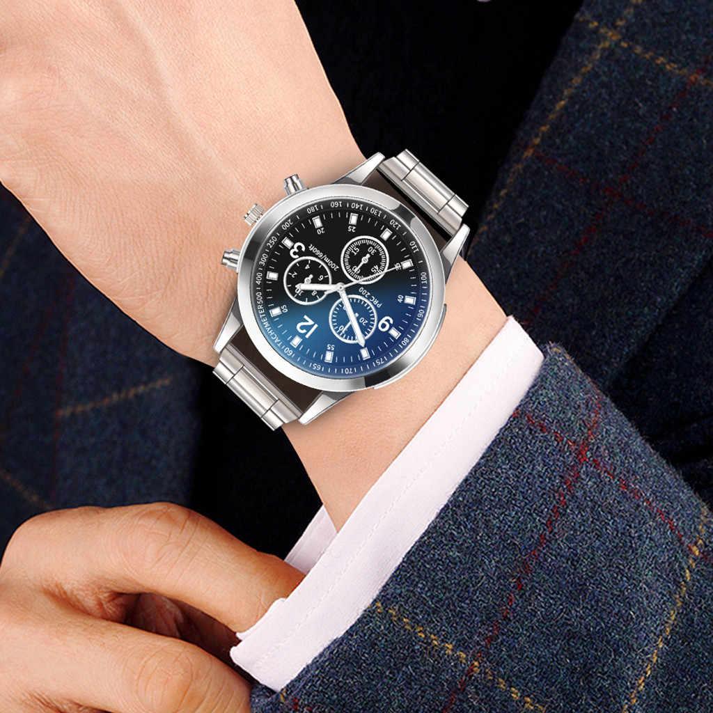 高級腕時計クォーツ腕時計男性ステンレス鋼ダイヤルカジュアルブレスレット腕時計フックバックルラウンド合金カジュアルブレスレット腕時計