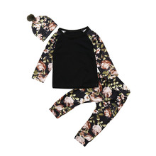 Get more info on the 2019 Spring Girls Clothing Sets Fashion Baby Girls Clothes floral casual sleeveless outfit +Hat Children's Clothes set
