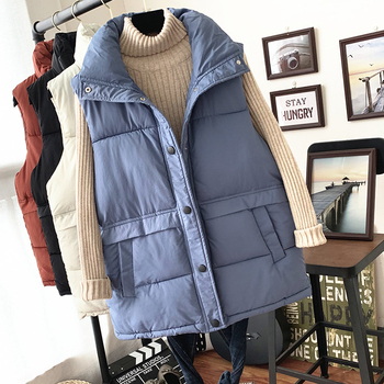 Cheap wholesale 2019 new autumn winter  Hot selling women's fashion casual female nice warm Vest Outerwear FP329