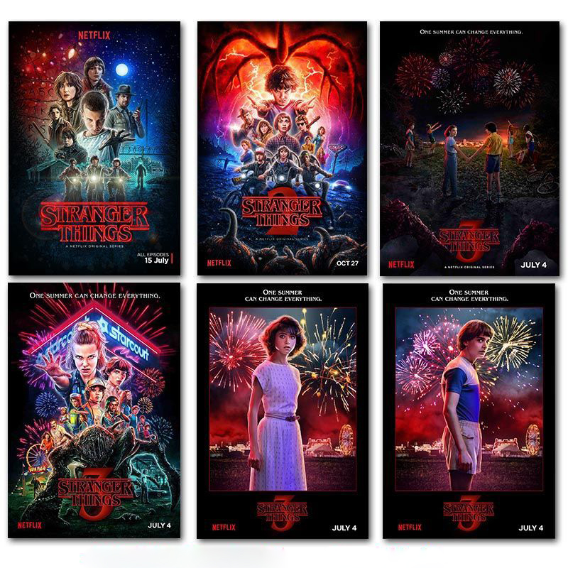 Stranger Things Posters Wall Stickers Home Decoration TV Show Prints Home Art  Brand