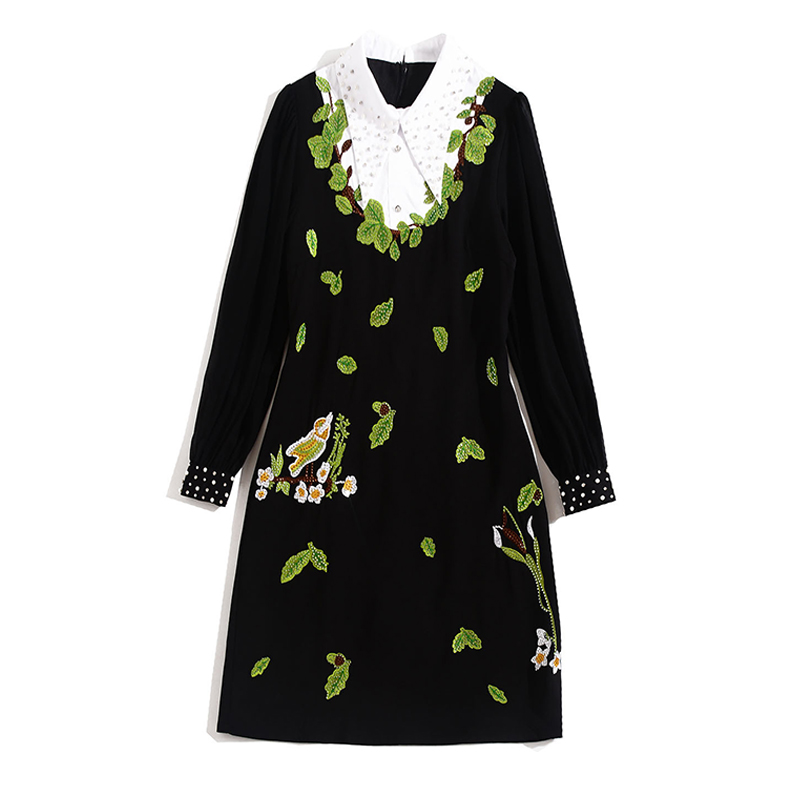 Tingfly/дизайнерское элегантное платье принцессы Kate Королевского синего цвета; женское винтажное платье до колена для работы в офисе с поясом; ... - 4