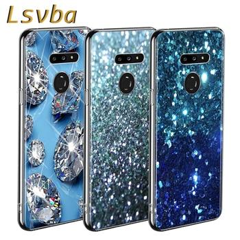 Перейти на Алиэкспресс и купить Красивых бриллиантов Стиль для LG W20 W10 V50S V50 V40 V30 K50S K40S K30 K20 Q60 Q8 Q7 Q6 G8 G7 G6 ThinQ чехол для телефона
