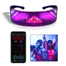 Shining Glasses Usb-Charge Bluetooth Magic Luminous App-Control-Shield Led DIY Party