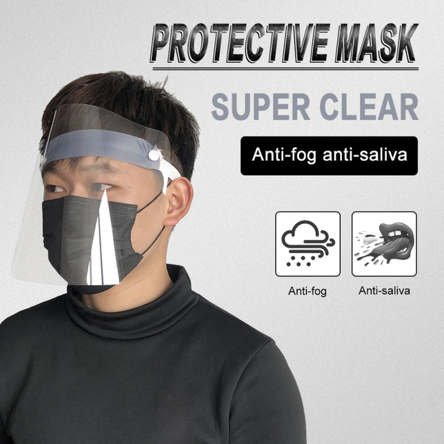 In stock Adult Transparent Mask Film Anti-fog Mask Sheet Environmental Protection Isolation Mask Protective Face Screen 1