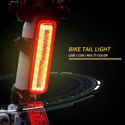 Led światła rowerowe USB akumulator tylne światło rowerowa lampa rowerowa Road MTB bike Taillight Sport Running Latern