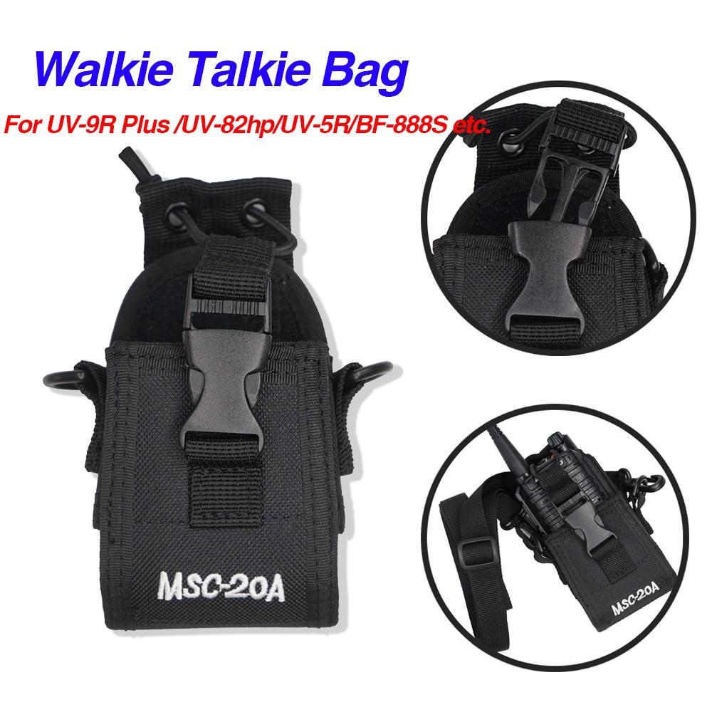 MSC-20A Walkie Talkie Bag Nylon Pouch Holster Carry Case For Baofeng UV-9R Plus UV5R UV82hp Bf888S UV-9RUV-B2 KENWOOD Ham Radio