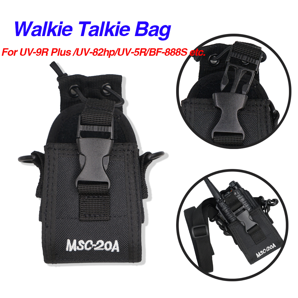 MSC-20A Walkie Talkie Bag Nylon Pouch Holster Carry Case For Baofeng UV-9R Plus UV5R UV82 Bf888S UV-9R UV-B2 UV-H9 H7 Ham Radio