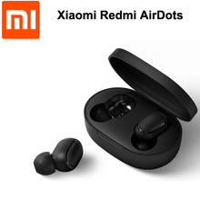 Беспроводные TWS наушники Xiaomi Redmi Airdots, Bluetooth 5,0, стереонаушники с басами и микрофоном, гарнитура с управлением ии, быстрая доставка