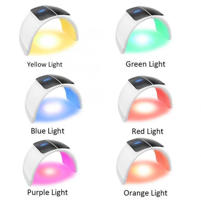 7 couleurs PDT Machine délimination de lacné visage thérapie par la lumière LED rajeunissement de la peau masque Facial Anti-âge acné dispositif délimination des rides