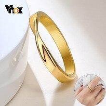 Vnox – bague Mobius minimaliste de 3mm pour femme, couleur or, acier inoxydable, bracelet mathématique, bijoux élégants pour dame