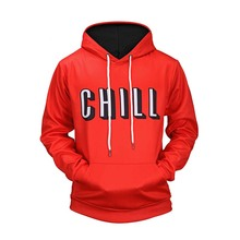 Letter Printed Pullover Fleece Hoodies Sweatshirts Men 2019 Fashion Harajuku Hip Hop Casual Streetwear Male Red Hooded