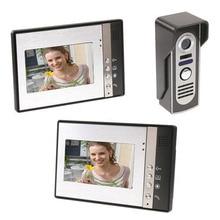 7 дюймов TFT 2 монитора видео-телефон двери дверной звонок Домофон комплект 1-Камера 2-монитор Ночное видение с IR-CUT HD 700TVL Камера