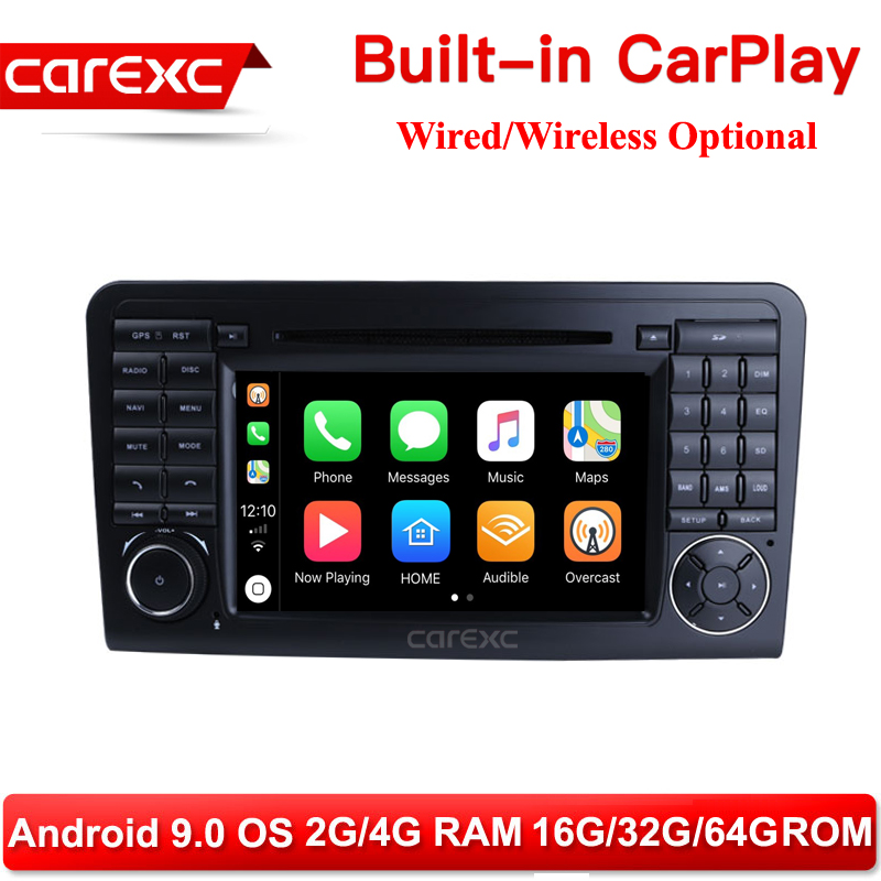 CarExc Android 9.0 Radio GPS Wireless CarPlay With DVD for <font><b>Mercedes</b></font> Benz <font><b>ML</b></font> W164 ML300 ML350 ML450 ML500 2005-2011 GL Class X164 image