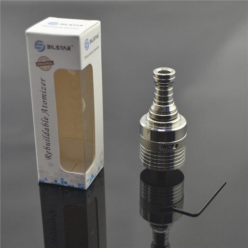 Bilstar Helios RDA 304 Stainless Steel Rebuildable Dripping Atomizer Prebuilt Coil RBA DIY Vaporizer for Vape MOD 510 thread 4