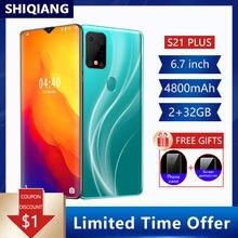SOYES-teléfono inteligente S21 Plus, versión Global, 6,7 pulgadas, Android 10,0, Hexa Core, 2 tarjetas Sim, 5.0MP, 4800mAh
