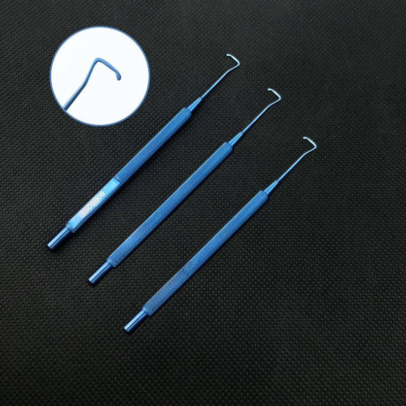 12 Cm Muscle Hook Surgical Ophthalmic Instruments Ophthalmic Hook 8mm /10mm/12mm Titanium Alloy