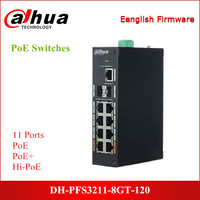 Dahua DH PFS3211 8GT 120 PoE Switches 11 Ethernet Ports with 8 Port PoE Support PoE PoE+ Hi PoE Protocol DC48~57V Power